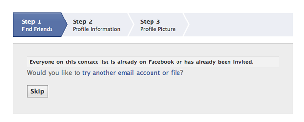 Facebook Removes Gmail From Friends Finder Feature | Frip in