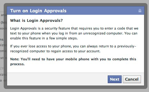 Facebook introduced login approvals for security frip login approvals is a system which send a code in your mobile phone whenever you login in your facebook account from a unauthorized device or form other stopboris Gallery