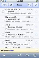 gmail mobile action undo